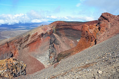 crater ! (M A N O N -) Tags: travel red newzealand orange beautiful rock roadtrip crater nz geology tongariro volcanoe