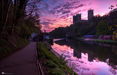Durham Sunrise (Ben's photo's) Tags: trees sky reflection sunrise river landscape dawn durham cathedral scenic colourful canon70d