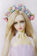 New floral crowns (AyuAna) Tags: flower ball design doll handmade crown bjd dollfie eris jointed whiteskin ordoll nyxdoll ayuana