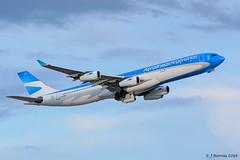 Aerolíneas Argentinas - Airbus A340 - LV-CSF (j.borras) Tags: barcelona airplane bcn airbus arg takeoff spotting a340 departing argentinas aerolíneas lebl rwy25r lvcsf