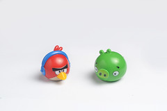 Angry Bird (Bhaskar Dutta) Tags: red music india green bird film table fun toy pig comic character cartoon angry tabletop
