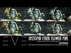 Dystopia Cyber Flower Pins Fatpack (eve.studio (Noke Yuitza)) Tags: eve vintage illumination secondlife sunflower lea shortstory tale cyberpunk steampunk dystopia pinsandneedles retrofuturistic we3rp roquai