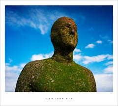 I am Iron Man (Parallax Corporation) Tags: texture statue rust ironman crosby antonygormley anotherplace