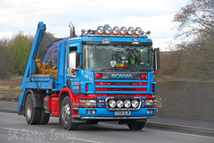 Scania 94D Skip Loader Jones Waste Services Y158 BJW (SR Photos Torksey) Tags: truck jones transport lorry commercial vehicle waste loader skip freight services scania logistics haulage hgv lgv