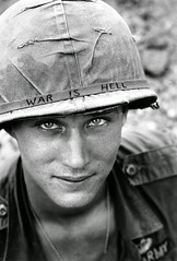 An American soldier wears a hand lettered War Is Hell slogan on his helmet - Vietnam (1965) [950 x 1405] #HistoryPorn #history #retro http://ift.tt/1NYwM0L (Histolines) Tags: history soldier is hand helmet x an retro vietnam american his timeline wears slogan 1965 950 1405 war vinatage lettered hell historyporn histolines httpifttt1nywm0l