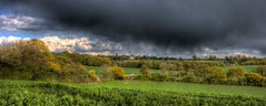 Gaynes Park (nigdawphotography) Tags: cloud house storm field landscape fields mansion essex arable earlofessex gaynespark