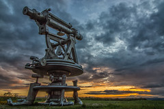 Last night's sunset. (DeviantSnappa) Tags: sunset england sky sculpture art landscape outdoors nikon telescope 3200 northeast codurham consett