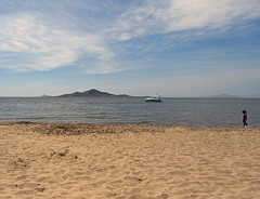 baron island (maximorgana) Tags: sea beach water girl island boat sand horizon lamanga lamangadelmarmenor bather elmarmenor isladelbaron