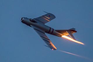 Mig 17 Afterburner After Sunset