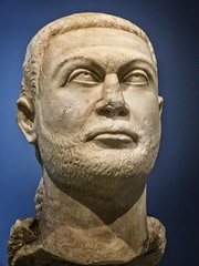 Head of a Togate Statue of the Roman Emperor Diocletian from Asia Minor 295-300 CE (2) (mharrsch) Tags: portrait sculpture chicago statue beard illinois ancient roman monarch diocletian getty artinstituteofchicago ruler emperor asiaminor gettyvilla 3rdcenturyce mharrsch