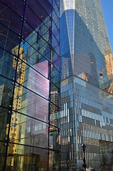 Prism Of My Own Making (MPnormaleye) Tags: city nyc urban abstract reflection glass architecture skyscraper rainbow manhattan utata wtc 24mm
