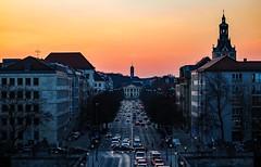 my million village,  traffic jam (werner boehm *) Tags: sunset mnchen sonnenuntergang verkehr prinzregentenstrase wernerboehm