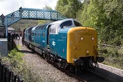 Scottish Branch line Gala. (Adrian Walker.) Tags: canon diesel elements tamron pinza grosmont nymr deltic eskvalley class55