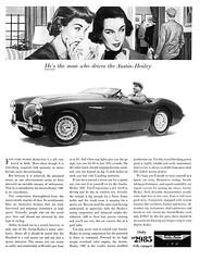 Austin-Healy, 1955 ad (Tom Simpson) Tags: 1955 car vintage ads advertising ad advertisement 1950s classiccars vintagead austinhealy