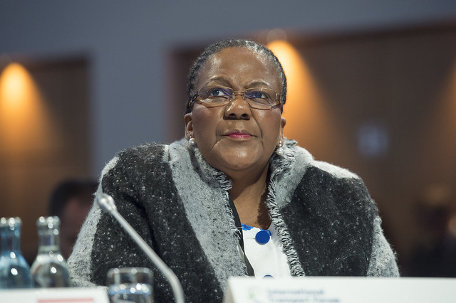 Dipuo Peters attends the Open Ministerial Session