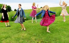 Bliss (bowen_jordan) Tags: family summer green grass dress wind spin country twirl lularoe