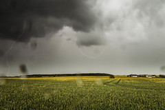 Lightning Storm (Adam_Marshall) Tags: adam marshall summer landscape nature sky stereocolours outdoors green sawtry rain field clouds adammarshall lightning storm weather countryside cambridgeshire canon eos70d sigma 1750mmf28 power lines grey vast empty flat lee filters