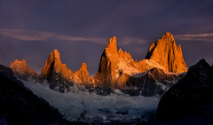 Crowning Glory (Sapna Reddy Photography) Tags: sky patagonia mountain mountains color nature argentina sunrise alpenglow losglaciares mtfitzroy
