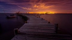 Another time in Carrasqueira (el_farero) Tags: wood sea sky portugal colors yellow stars marketing peace nightshot embarcadero nocturna carrasqueira twoways farero