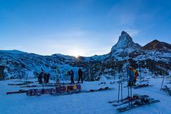 Matterhorn Glacier Paradise (Almsoo7) Tags: blue winter sun mountain snow star switzerland afternoon skii zermatt matterhorn