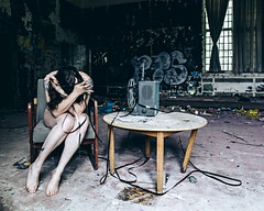 Her Life in Pictures (sadandbeautiful (Sarah)) Tags: woman selfportrait ny abandoned me female self psychiatrichospital