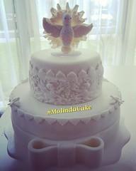 DETALHES ❤🎂🎀 #molindacake #cakedesign #cakeart #cake #sweet #candy #bolo #pastaamericana #bolobatizado #batizado #sobremesa #party #instacake #instafood #laco #chocolate #docedeleite #biscuit #topodebolo #divinoespiritosanto #detalhe (Molinda Cake) Tags: boss cake pasta americana bolo bolos confeitados molinda