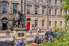 The Game Is Afoot (Graeme Pow) Tags: city people statue scotland shoes edinburgh gang trainers writer sherlockholmes holmes sherlock detective youths arthurconandoyle privatedetective thegameisafoot picardyplace