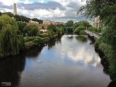 View over the Liffey River, Dublin, Ireland (okaystephanie) Tags: city trees ireland dublin reflection nature water beautiful beauty river landscape scenery liffey quaint tranquil riverview exteriors