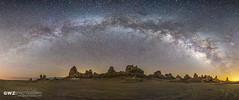 Milky Way Panorama (GWZ Photography) Tags: california panorama ridgecrest milkyway tronapinnacles
