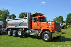 1990 Mack Superliner Tri-Axle Dump (Trucks, Buses, & Trains by granitefan713) Tags: mack macktruck classic vintage antiquetruck atca macungie truckshow showtrucks superliner macksuperliner mackrw dumptruck enddump triaxle triaxledumptruck sharptruck showtruck