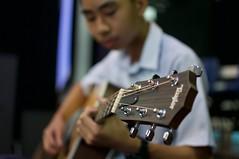 strumming (amritfernando) Tags: music metal artist child guitar d90