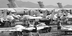 Davis Monthan AFB Boneyard BW (SCFiasco) Tags: airplane az scrapyard airforce usaf scrap boneyard davismonthanafb scfiasco siasoco edsiasoco