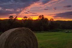Hay Bail Sunset (elally79) Tags: bail hay sunset sky medow grass green nature farm farmiong farming tractor bailer hillside hill rocky fork ranch sonyflickraward