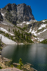 Emerald Lake RMNP (Scott Sitler) Tags: lake snow mountains water colorado hike mountainlake emerald rockymountainnationalpark emeraldlake