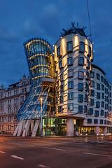 Dancing House (Xenedis) Tags: architecture bluehour bohemia building eskrepublika cityscape clouds czechrepublic dancinghouse easterneurope europe hlavnmstopraha prague praha tancdm twilight