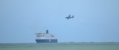 Fly Past (gillsfanjohn) Tags: dfds hercules ferry