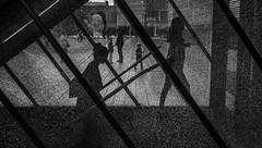 shattered world (Peter M. Meijer) Tags: fujix70 people street strasse strada straat rotterdam urban candid netherlands holland brokenglass