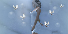 I stand for peace...💜 (AlienmausAllen) Tags: sl secondlife dove peace whitedove frieden alienmausallen