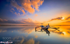 Alone in The Middle (l3v1k) Tags: ifttt 500px sunrise reflections boat ocean transportation bali indonesia canon seascape landscapes long exposure photography 500pxprime bertoni siswanto ray master filter