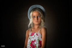 my daughter Lilja (salas-3) Tags: portrait girl hat light dress young photography nikon 50 50mm