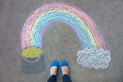 We made it to Friday (catklein) Tags: chalk rainbow fromabove potofgold fromwhereistand