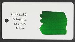 Noodler's Gruene Cactus Eel - Word Card