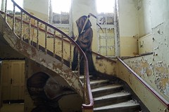 Sanatorium E. (elisachris) Tags: streetart art abandoned dark graffiti scary kunst creepy spooky sanatorium brandenburg ricohgr verlassen heilanstalt