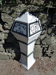 Doune (31) (lairig4) Tags: river scotland doune teith milepost deanston