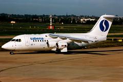 Sabena (Delta Air Transport)   Avro RJ85   OO-DJZ   Birmingham International (Dennis HKG) Tags: brussels plane airplane airport birmingham aircraft sn avro bae146 sabena sab 146 planespotting rj85 regionaljet snbrussels bhx egbb oodjz