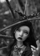 Sad Chou ♥ ((old account) Koala Krash) Tags: white black art nature ball dark french doll artist sad body cartoon makeup koala bjd brunette custom manon custo krash artiste poupée jointed française lillycat dojy cerisedolls cerisedoll darkdojy
