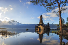 Shiny Morning (Made Suwita Photography) Tags: morning bali lake reflection reflections indonesia temple pura ulun danu batur kintamani jati segara