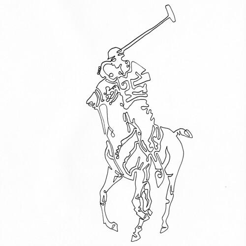 official photos e728e 6e1dd a single line drawing of the Polo Ralph Lauren Logo - a ...