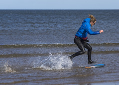 Skim Boarder 013 (KeithProvenArtist) Tags: sea beach sport scotland surf waves play fife standrews westsands skimboarder