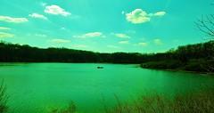 lake placid...(HSS) (BillsExplorations) Tags: statepark park sky lake water clouds fishing outdoor hiking peaceful serene lakeplacid hss illinoisstatepark sliderssunday
